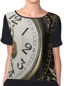 Steampunk Clocks Chiffon Top