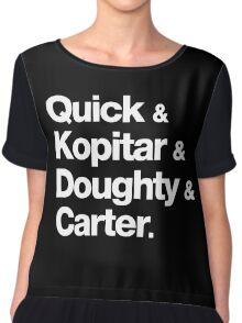 Quick & Kopitar & Doughty & Carter. Chiffon Top