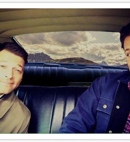 Jensen Ackles and Misha Collins  Sticker