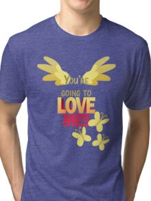 Quotes and quips - LOVE ME!! Tri-blend T-Shirt