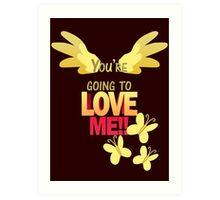 Quotes and quips - LOVE ME!! Art Print
