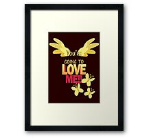 Quotes and quips - LOVE ME!! Framed Print
