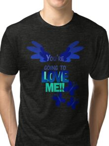 Quotes and quips - LOVE ME!! - inverted Tri-blend T-Shirt