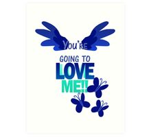 Quotes and quips - LOVE ME!! - inverted Art Print
