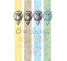Owlgons: All Seasons (Season Backgrounds) Photographic Print