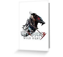 Witcher 3 Design Greeting Card