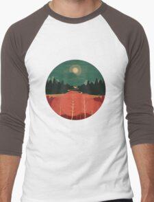 Midday Mountains Men's Baseball ¾ T-Shirt