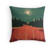 Midday Mountains Throw Pillow