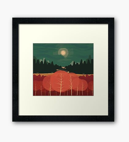 Midday Mountains Framed Print