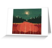 Midday Mountains Greeting Card