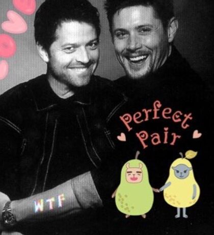 Cockles- Jensen Ackles and Misha Collins  Sticker