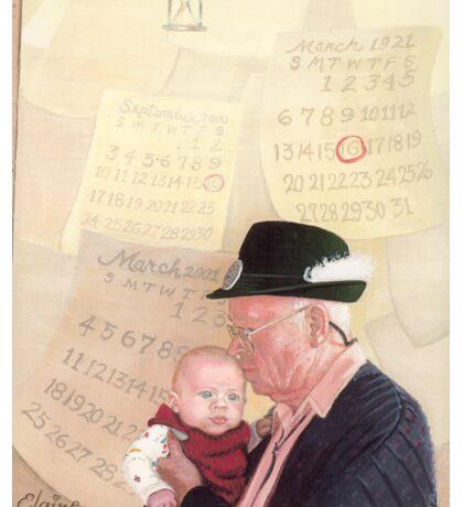 Grandpa and Grandson  Sticker