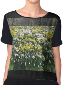 Altered Daffodils Chiffon Top