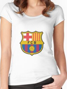 Barcelona FC  Women's Fitted Scoop T-Shirt