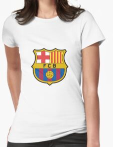 Barcelona FC  Womens Fitted T-Shirt