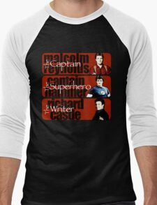 The Captain, The Superhero, and The Writer Men's Baseball ¾ T-Shirt