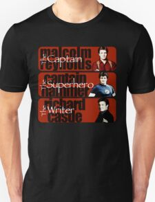 The Captain, The Superhero, and The Writer Unisex T-Shirt
