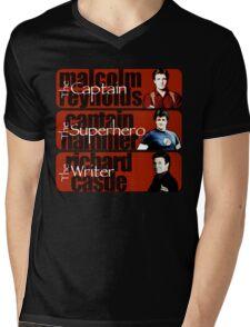 The Captain, The Superhero, and The Writer Mens V-Neck T-Shirt