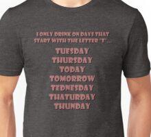 Drinking Days (Red) Unisex T-Shirt