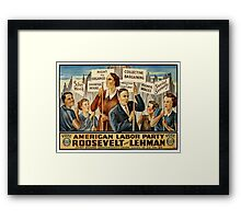 American Labor Party Framed Print