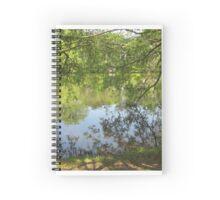tree branch pond mirror  Spiral Notebook
