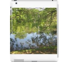 tree branch pond mirror  iPad Case/Skin