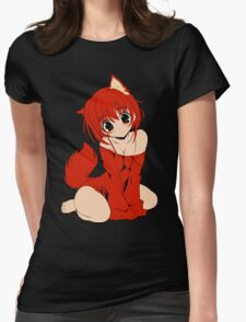 Neko - Cat Girl 1 Womens Fitted T-Shirt