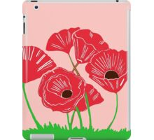 Red Poppies Printmaking Art iPad Case/Skin
