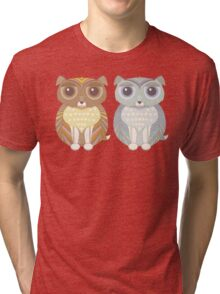 Two Fluffy Dogs Tri-blend T-Shirt