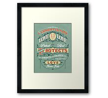 WHAT IS LOVE? Framed Print