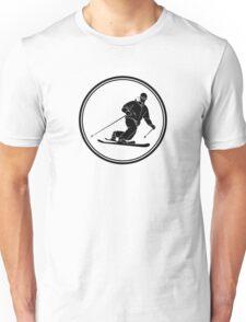 Mens Telemark Skiing Unisex T-Shirt