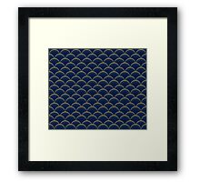 Blue and Gold Scales Framed Print