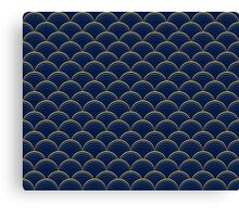 Blue and Gold Scales Canvas Print