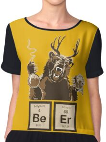 Chemistry bear discovered beer Chiffon Top