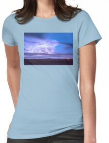 On The Edge Of A Storm Womens Fitted T-Shirt