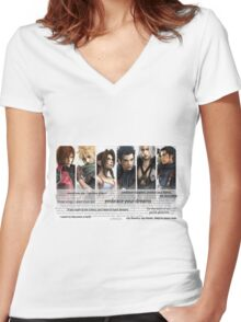 LOVELESS. Crisis Core.  Women's Fitted V-Neck T-Shirt