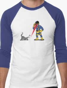 Lasers and cats Men's Baseball ¾ T-Shirt