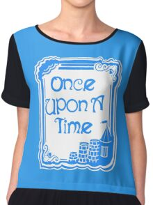 Once Upon A Time in Blue Chiffon Top