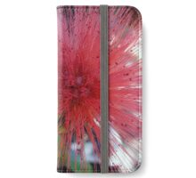 Pink bottle brush flower iPhone Wallet/Case/Skin