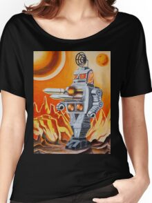 MISSLE ROBOT Women's Relaxed Fit T-Shirt