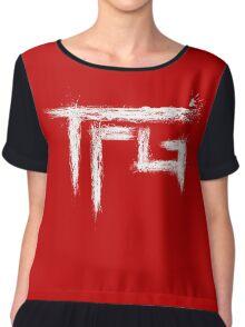 TFG brush white Chiffon Top