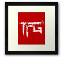 TFG brush white Framed Print