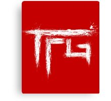 TFG brush white Canvas Print