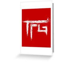 TFG brush white Greeting Card