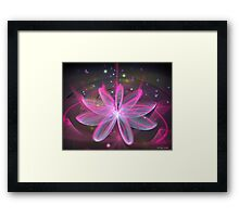 Magical Flower - Pink Lily Framed Print
