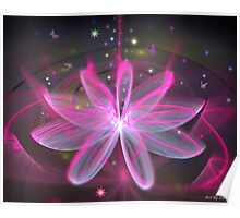 Magical Flower - Pink Lily Poster