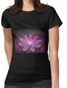 Magical Flower - Pink Lily Womens Fitted T-Shirt