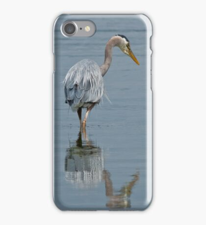 Blue Heron Hunting in Puget Sound iPhone Case/Skin