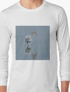 Blue Heron Hunting in Puget Sound Long Sleeve T-Shirt