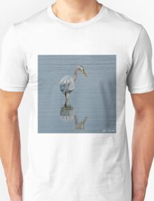 Blue Heron Hunting in Puget Sound Unisex T-Shirt